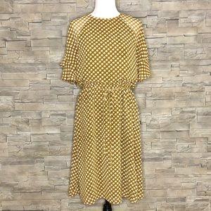 LOFT caramel motif dress